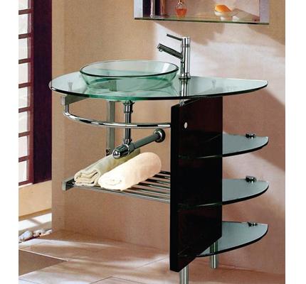 Lavamanos vidrio y aluminio meller for Lavamanos de cristal
